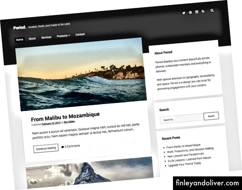 Responsivt WordPress Blogging Theme