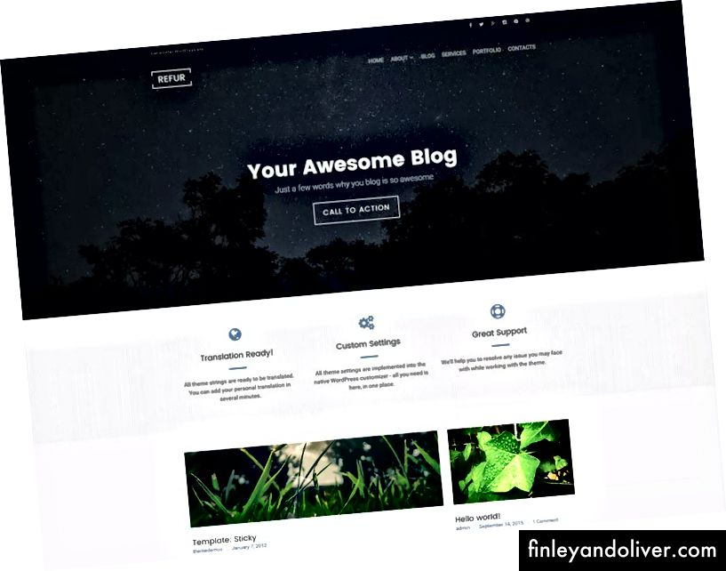 Beste WordPress Webblog