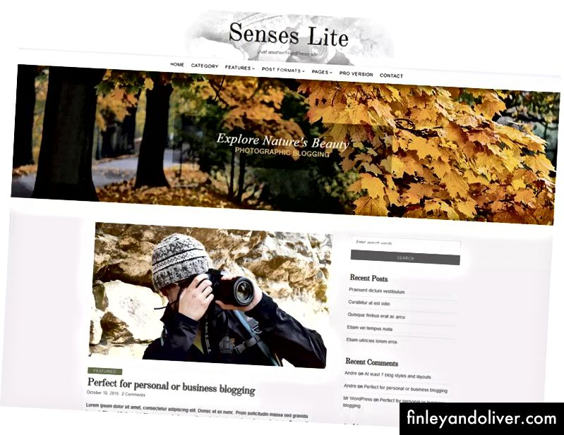WordPress Photography Blog Theme