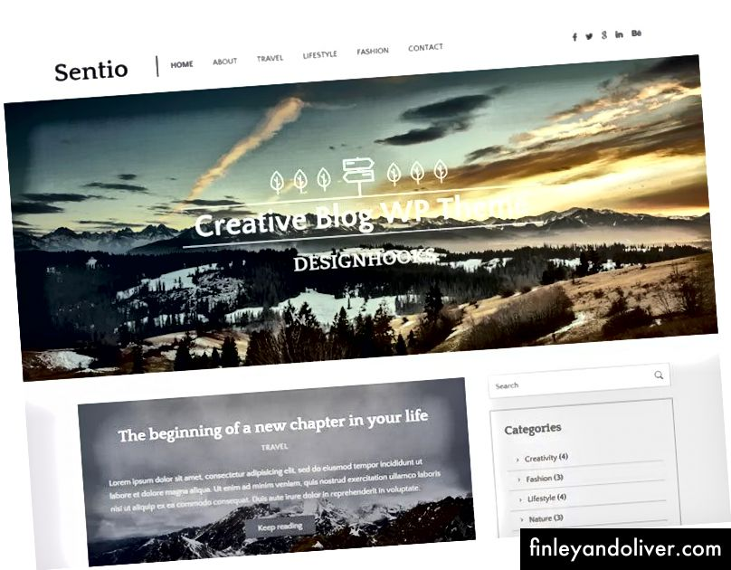 WordPress Creative Blog Theme
