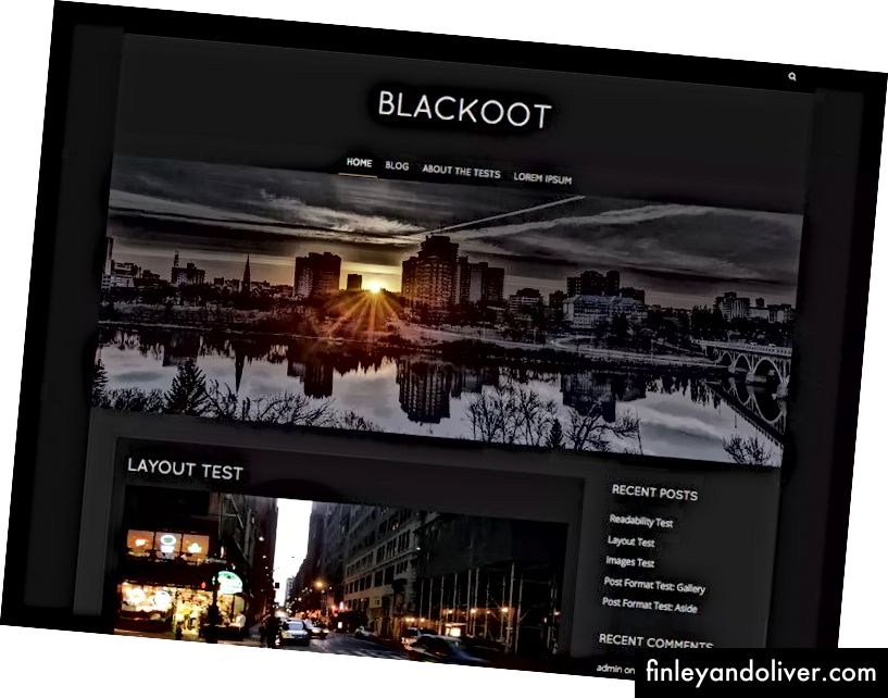 WordPress Blog Theme Dark