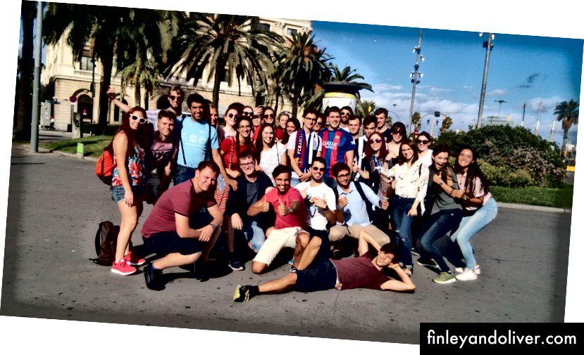 Stadsvergadering - dicht bij Las Ramblas, Barcelona. Foto door Jorn