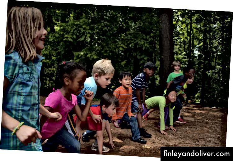 Kinderen racen afbeelding van Pixnio