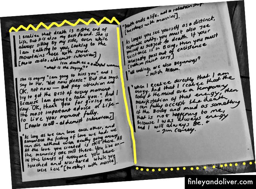 Persoonlijke aantekeningen maken van wat ik in boeken heb gelezen.