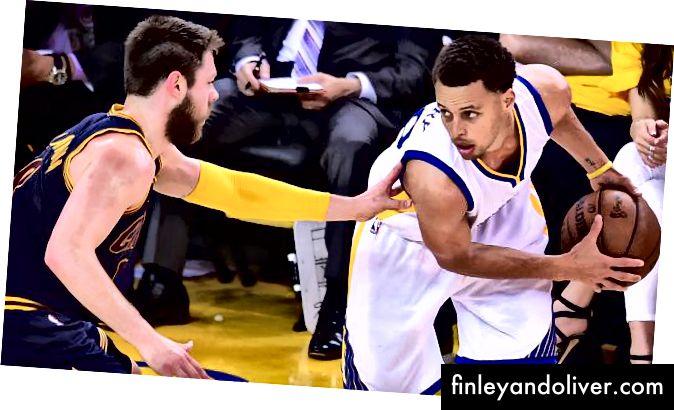 Matthew Dellavedova forsvarte Stephen Curry i 2014–15 NBA-finalen