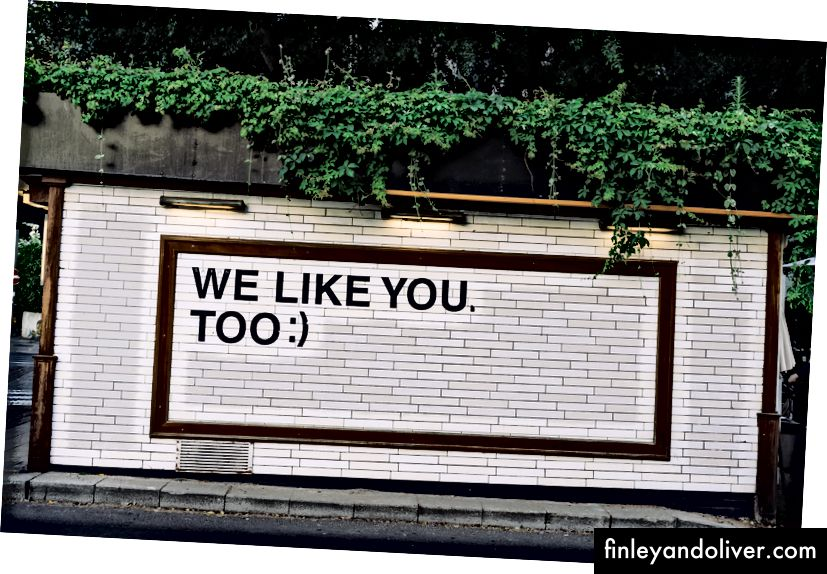 Ngay lập tức, chúng tôi cũng thích bạn