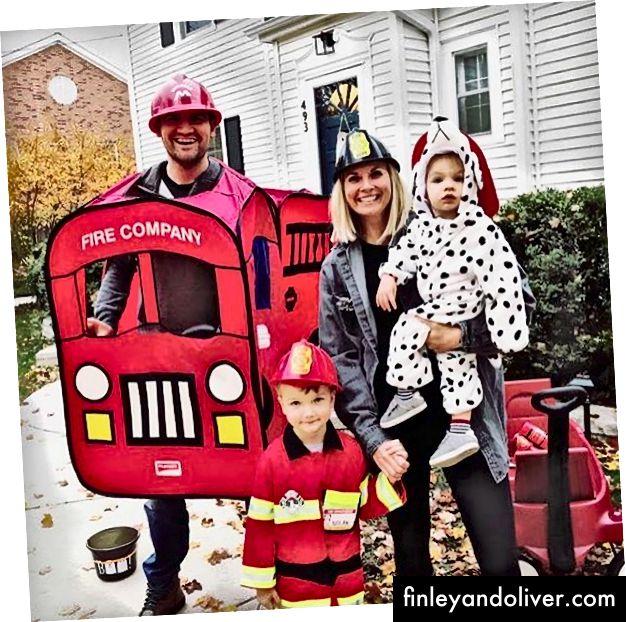 Halloween 2018. De auteur is de brandweerwagen, voor het geval je je dat afvroeg.
