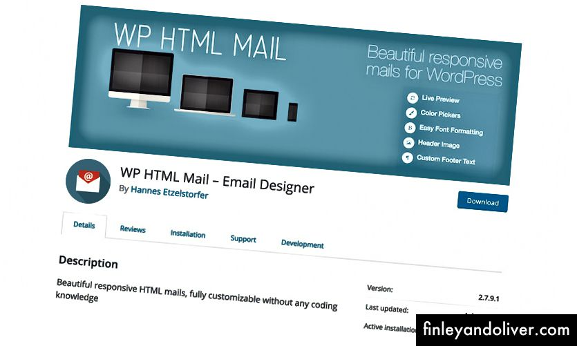 https://wordpress.org/plugins/wp-html-mail/