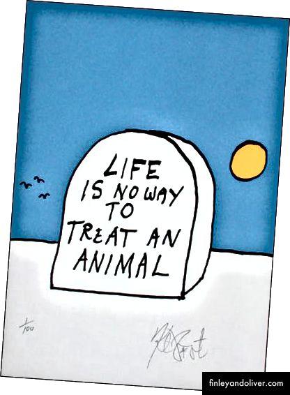 Original kunstverk av Kurt Vonnegut