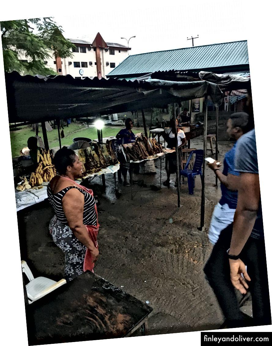 L: Emir of Zazzau Palace, Kaduna / R: Buying Bole, Port Harcourt