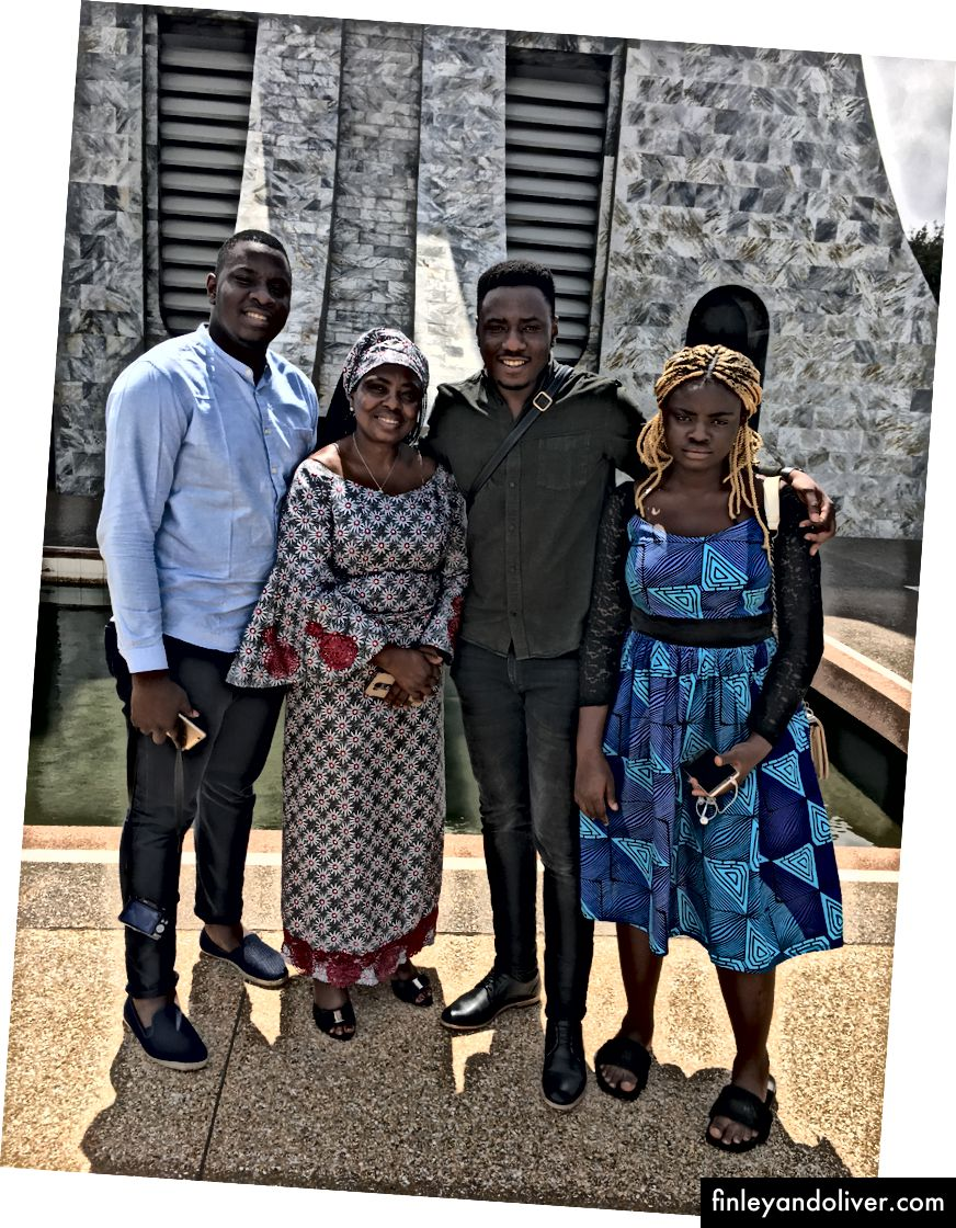 L: Tomi opgegraven / C: Slaying at a send off / R: Family time, Accra