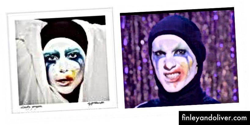 Sasha's Gaga-look uit de eerste aflevering van Drag Race seizoen negen