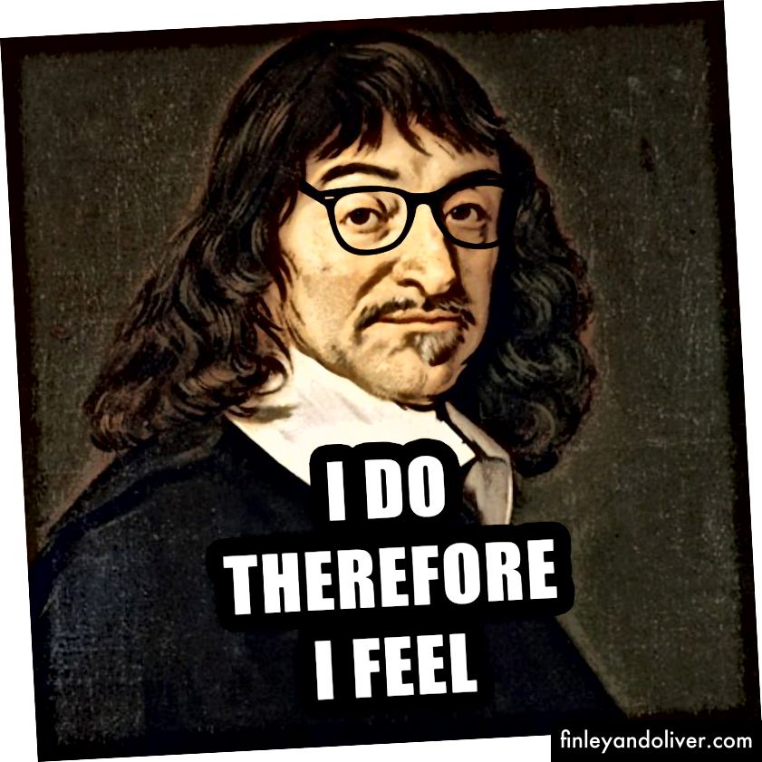Descartes ser merkelig ut som min hippie steente kaliforniske skater nabo.