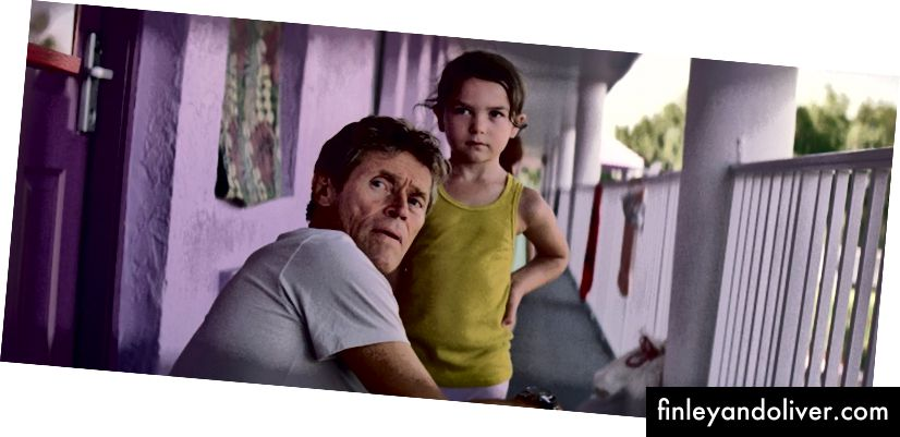 Willem Dafoe og Brooklynn Prince i 'The Florida Project' | © A24