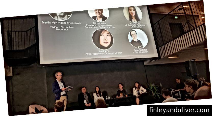 Blokķēdes paneļa diskusija Kopenhāgenas Fintech nedēļā