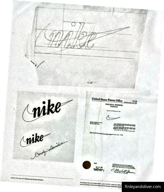 Logo Nike nguyên bản. Bạn thích logo ngày hôm nay vì bạn thích thương hiệu.