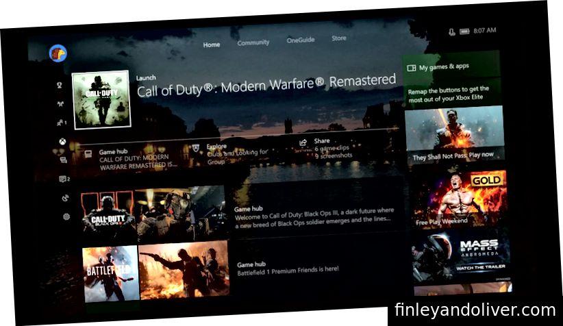 Xbox abadiy kabi ko'rinadigan narsalar uchun ularning duvarcılık panjara tartibini takrorlaydi.