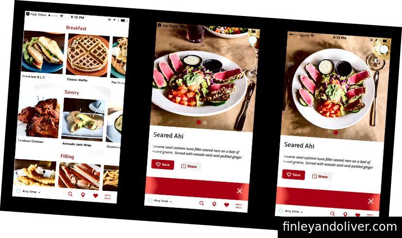 Hankr vizual restoran ilovasi bilan ongga murojaat qiladi.