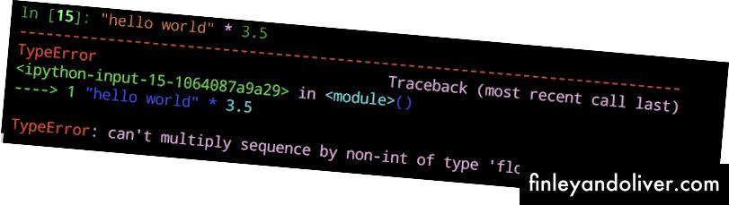 Python-foutbericht