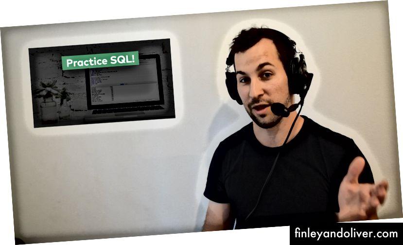 Ik, met de headset in de introductievideo van mijn nieuwe cursus (bron: data36.com)