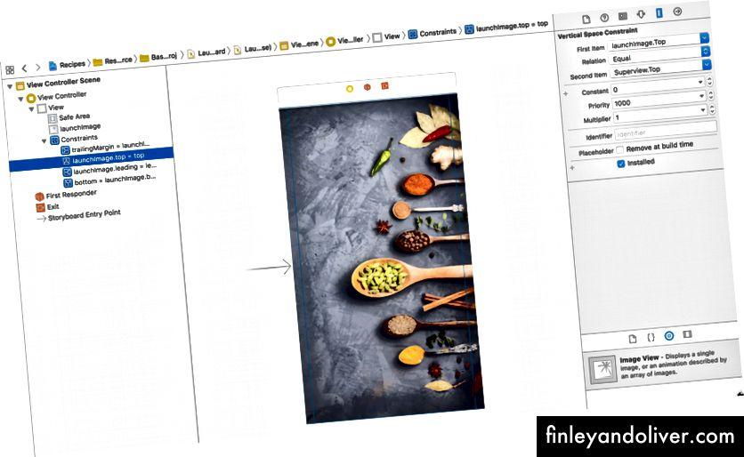 Налаштування макета в LaunchScreen.