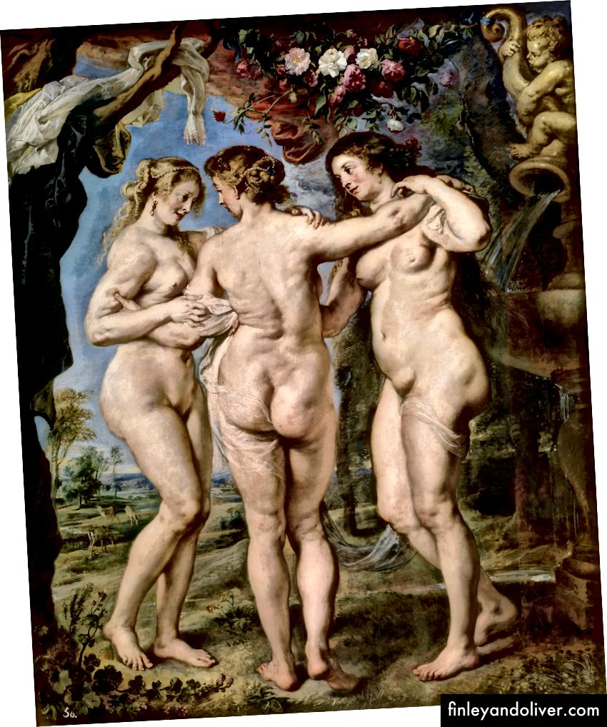 The Three Graces, Peter Paul Rubens (Wikimedia Commons)