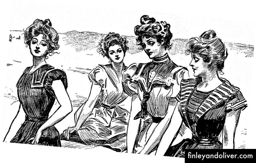 Cô gái Gibson đại diện cho lý tưởng nữ tính thời Victoria (Wikimedia Commons)