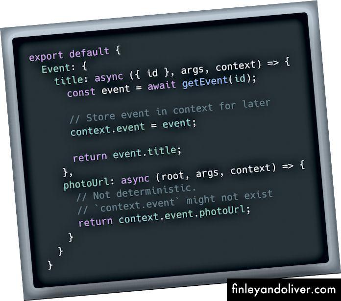 Gegevens doorgeven tussen resolvers met behulp van context. Dit wordt niet aanbevolen!