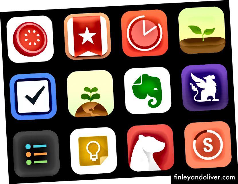 Όλες αυτές οι εφαρμογές έχουν πολλές θετικές κριτικές στο App Store. Καταρχάς, δεν ήμουν σίγουρος ποιο να επιλέξει καθώς φαίνονταν να έχουν αλληλεπικαλυπτόμενα χαρακτηριστικά. Σε ορισμένες περιπτώσεις, ακόμη και τα ονόματά τους και ο σχεδιασμός τους φάνηκαν παρόμοια.