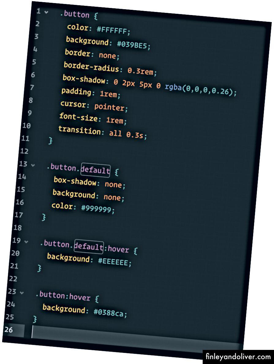 Bir düğme için CSS stil (eski yol)