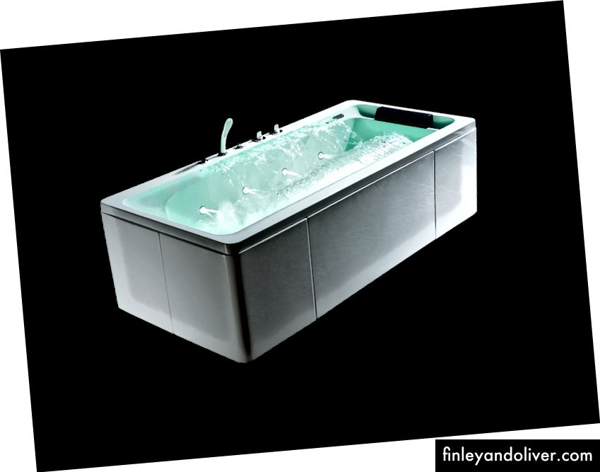 BÓNG- Bồn tắm mát xa đặt thác nước