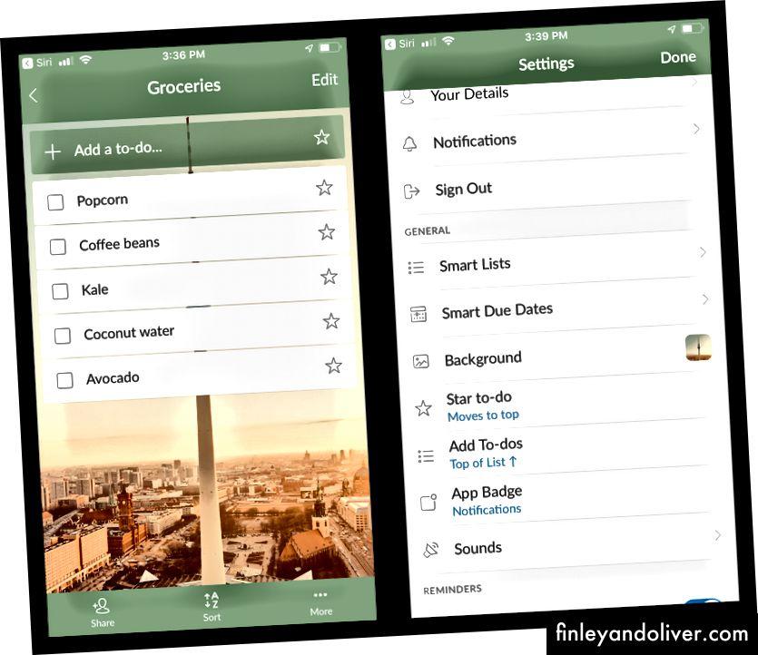 Wunderlist er en enkel listebygging-app som fungerer for alt fra dagligvarelister til oppgavelister.