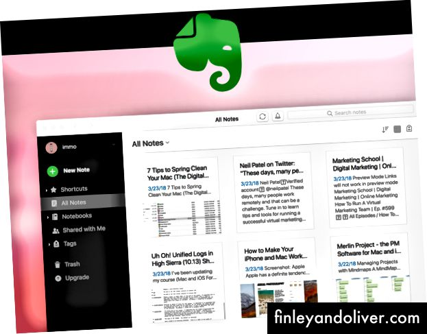 Evernote-notater
