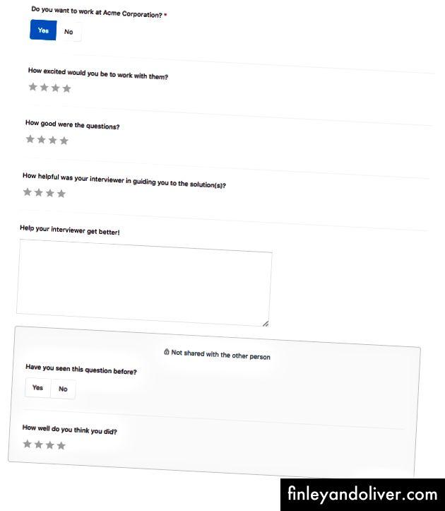 Mẫu phản hồi cho người được phỏng vấn