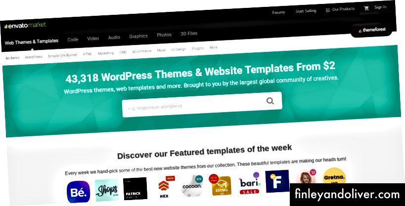 Thị trường chính xác cho các chủ đề kinh doanh WordPress