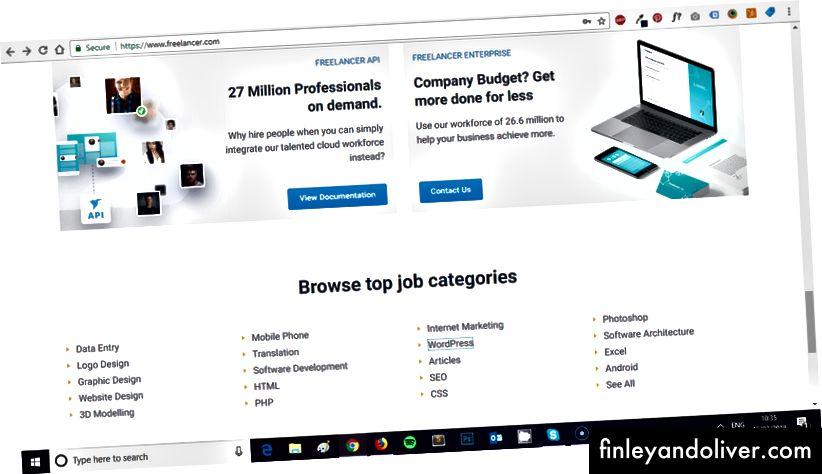 Freelancer.com (nơi mà Drupal và Joomla?)