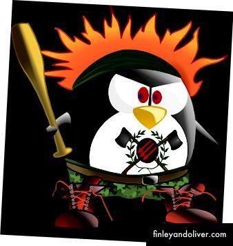 Anarchy Punk Penguin fra Pixabay