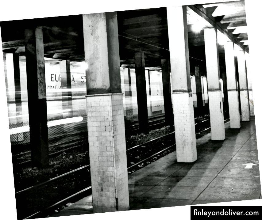 Станція Еврика в кінці серпня 1964 року. Фото Алана Дж. Кентербері