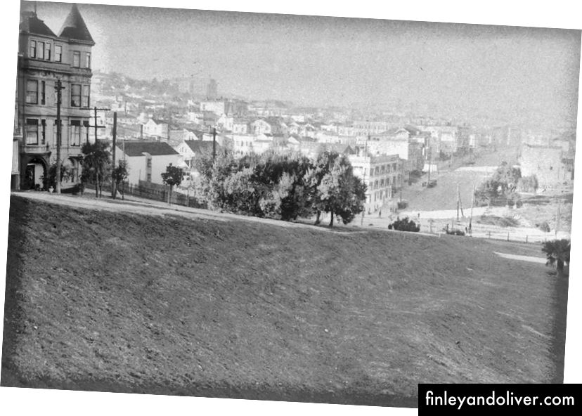 Парк «Місія Долорес» у 1915 р. · Джерело / Джерело / Джерело