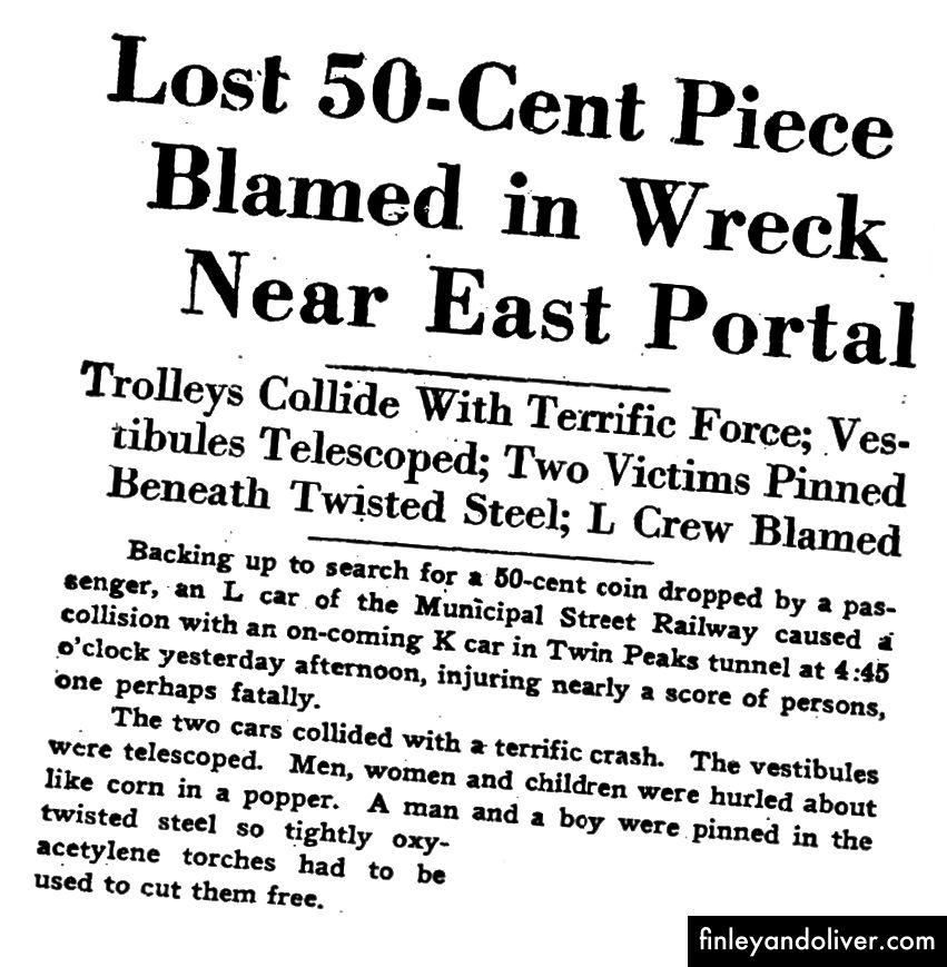 Một bài viết giật gân trong S.F. Biên niên sử từ ngày 13 tháng 11 năm 1930