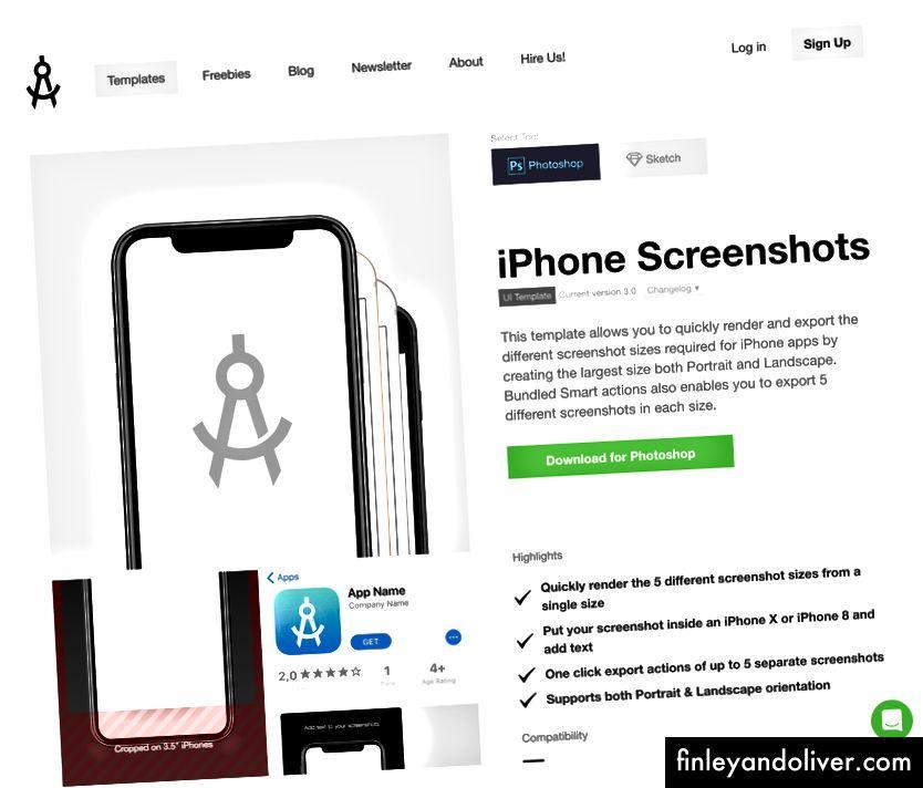 Apply Pixels presenta una amplia gama de plantillas de Sketch y Photoshop