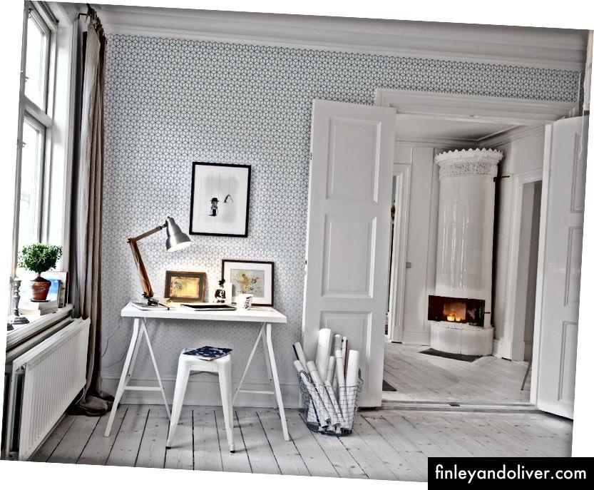 Ev ofisi. İsveç. Alvhem tarafından iç tasarım. Cim EK.