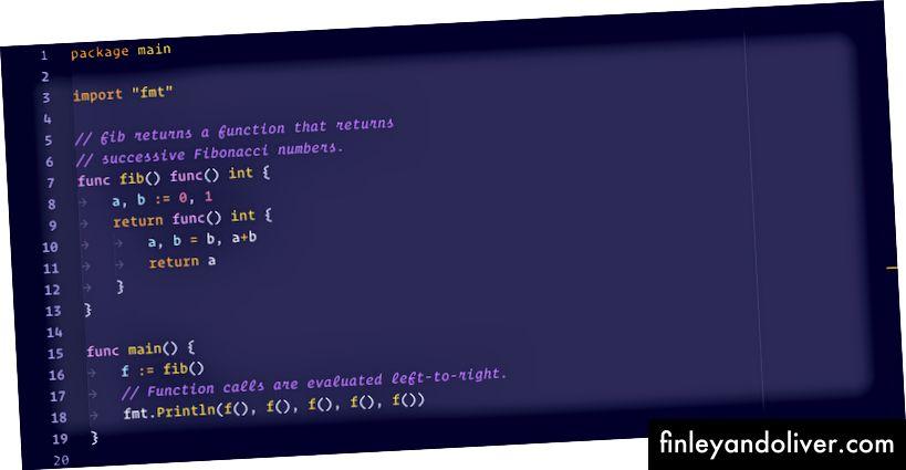 Відтінки фіолетового синтаксису для: Перейти