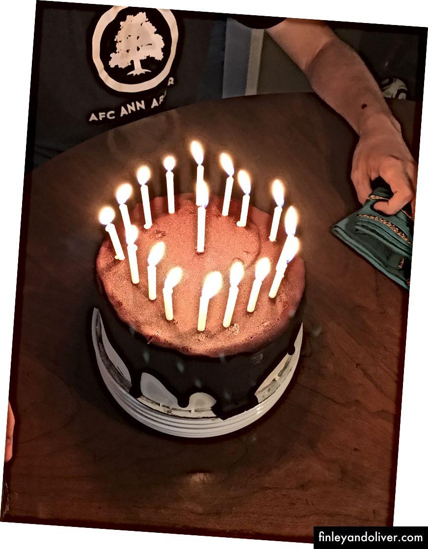 De lekkerste cake die ik ooit heb gemaakt! (Nee, hij speelt niet voor AFC Ann Arbor maar hij zou kunnen.)
