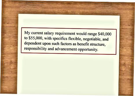 Uključujući povijest ili uvjete plaće