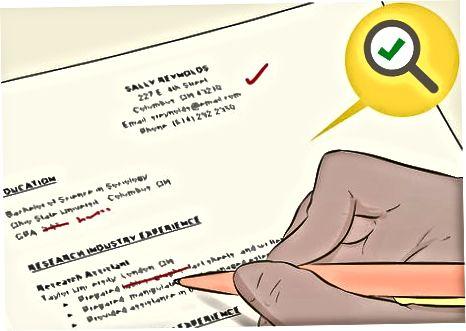Dovršavanje vašeg životopisa