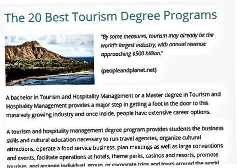Turizm bo'yicha karyerangizni boshlash