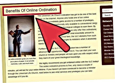 Ordination-ni tadqiq qilish