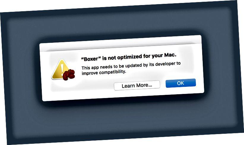 Дадатак не аптымізавана для вашага Mac