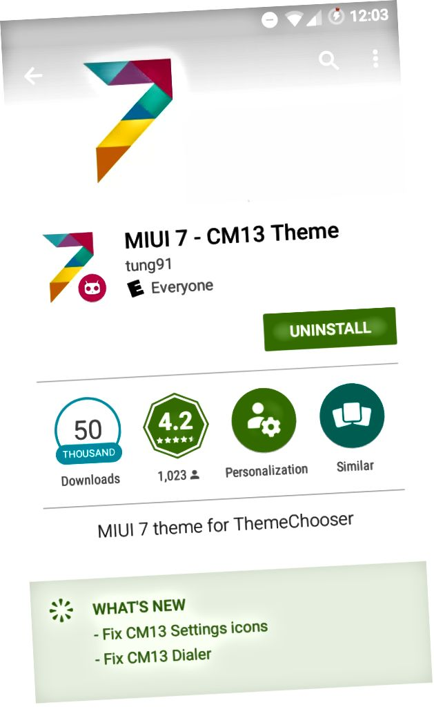 MIUI7 CM13 الموضوع